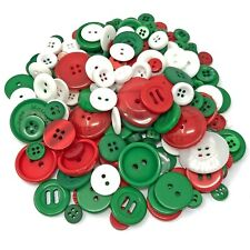 Christmas 100 Gram Mix Acrylic & Resin Buttons For Cardmaking Embellishments