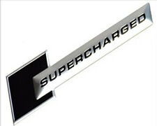 SUPERCHARGED Polished Aluminum Emblem badge sticker for Audi,Holden,HSV,BMW Bk