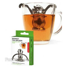 Monkey Tea Infuser-Stainless Steel-Small Drip Tray-Cute Kitchen Gadget-Fun-NEW