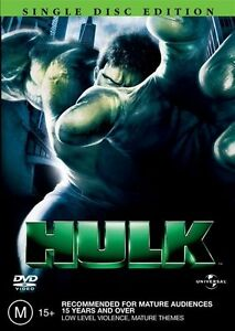 Hulk DVD - SAME / NEXT DAY FAST POST - Australian Region 4