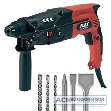 Flex Martillo Perforador CHE 2-26 SDS-plus incl. Maleta + Bosch broca Cincel