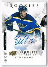 2015-16 Exquisite Collection Signatures Rookie Autograph Auto Robby Fabbri /249