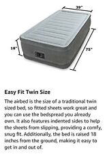 INTEX Comfort Elevated Dura-Beam Airbed with Built-in Electric Pump
