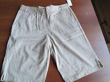 NWT George Girls' Junior School Uniform Bermuda Shorts  - Warm Beige, Sz 5