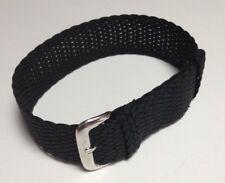 Bracelet Perlon 20mm noir neuf pour montre plongée ou militaire (cwc Auricoste)