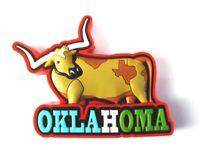 Oklahoma Longhorn USA Souvenir Rubber Magnet,Amerika,Neu (117)