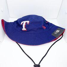 New era Men bucket hat 100%authentic Navy MLB Texas Rangers logo
