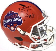 TREVOR LAWRENCE #16 SIGNED CLEMSON TIGERS CHAMPIONSHIP FOOTBALL HELMET PSA/DNA
