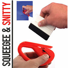Vinyl Squeegee Applicator & Snitty Safety Cutter Tool Wrap Car Tint Window Kit