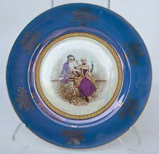 """Decorative Plate-Colonial Couple-Pearl Luster & Gold Japan 10"""""""