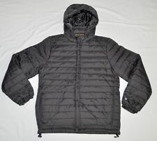 Men's UNDEFEATED Nylon Puffer Jacket Black Coat Removable Hood-size L (T1) $172