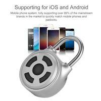 Metall Smart Lock Schlüsselloses Bluetooth Vorhängeschloss Lock APP Kontrolle