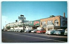 Postcard NJ Atlantic City Hackney's Seafood Restaurant 1950's Old Cars  B9