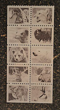 USA1981 #1880-1889a 18c American Wildlife -  Pane of 10 From Booklet  Mint NH