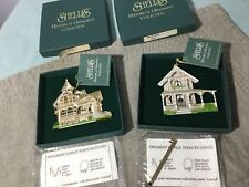 Shelia's Historical Ornament Collection - Lot of 2 - Weller House/White Cottage