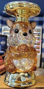 New Bath & Body Works Fall 2021 Squirrel Water Globe Pedestal Candle Holder NIB
