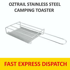 OZTRAIL STAINLESS STEEL CAMPING TOASTER CAMP COOKING  - FREE POSTAGE
