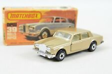 Matchbox Superfast #39 Rolls Royce Silver Shadow - Gold Body, White Interior