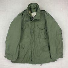 New listing Us Army M-65 Field Jacket + Liner Large Long 70s Vtg Vietnam Og107 Military Coat
