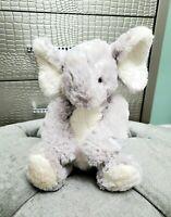 "Pier 1 One Imports Max Elephant Plush Stuffed Animal Gray White 14"" Fuzzy"