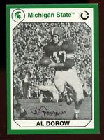 Al Dorow #61 signed autograph 1990 Michigan State Collegiate Collection Card