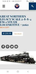 Lionel Great northern legacy scale locomotive