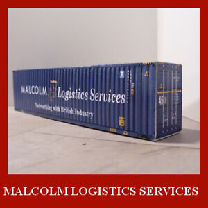 1:160 N Gauge Malcolm Logistics Services Shipping Container x 12 Mixed 45ft