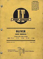 Oliver 66 77 88 770 880 Tractors I+T Shop Manual O-10