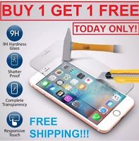 100% Genuine Tempered Glass Screen Protector Protection For Apple iPhone 6&6S&7