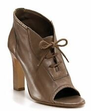 Jil Sander Corteccia Leather Peep Toe Ankle Boot-Taupe Women's 7 M US / 37.5 Eur