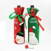 Sequins Snowman/Santa Claus Christmas Decoration Red Wine Bottle Cover Bags