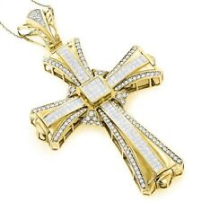 3Ct Round Simlnt Diamond Holy Cross Pendant Locket White Gold Fns Silver NO CHAN