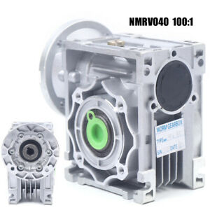 Worm Gearbox Speed Gear Reducer Reducer 100:1 Stepper Motor 1400r/min Input USA