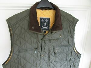 JACK MURPHY QUILTED JACKET XL GILET GOLF WALKING RIDING COUNTRY BARBOUR GREEN