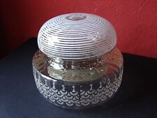 Vintage Etched Glass Lamp Shade 1940's