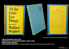 All the Little Live Things, Wallace Stegner. First Edition, 1st Printing. 1967