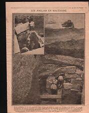 WWI British Army Macedonia ancient archeology Trench Macédoine 1916 ILLUSTRATION