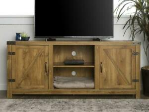 "Manor Park Farmhouse Barn Door TV Stand for TVs up to 65"", MANY COLOR OPTIONS!"