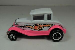 1979 MATCHBOX SUPERFAST MODEL A FORD Hot Pink & White