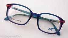 Glasses Metzler Vintage Glasses Frames Blue Pink Green Large Plastic SIZE S