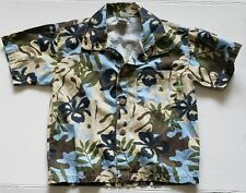 Charlie Rocket Boys Toddler Size 4T Hawaiian Shirt Floral Made in USA EUC