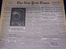 1948 MAY 29 NEW YORK TIMES - JEWS IN OLD CITY SURRENDER - NT 3514