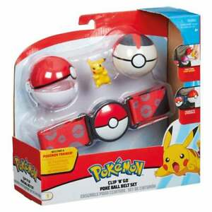 Pokemon Clip 'n' Go Poke Ball Belt Set with 2 Poke Balls and Pikachu Figure