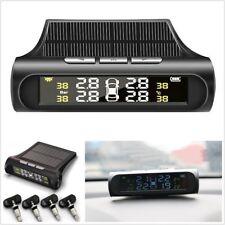 Car Tire Pressure Monitoring System TPMS Solar Dash Wireless w/4 Internal Sensor