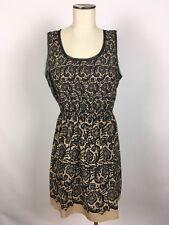 Rodarte For Target Womens Black Nude Floral Lace Design Dress Size L A098