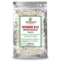 Vitamin B12 Methylcobalamin 1000mcg 120 Tablets High Strength Immune Fatigue