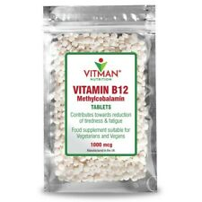 B12 Methylcobalamin Vegetarian Safe Tablets High Strength Immune Energy Fatigue