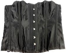 Burleska Corset Women Size 34 Bustier Polyester Cotton Black