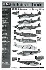Aviaeology Decals 1/72 LOCKHEED PV-1 VENTURA IN CANADA Part 1