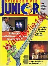 Science et vie junior 19-1990 Chirurgie esthétique Einstein Boucq Feux artifice